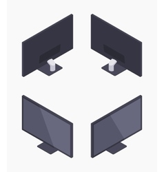 Isometric black HD monitor vector