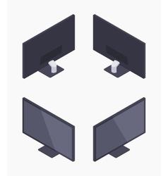 Isometric black HD monitor vector image