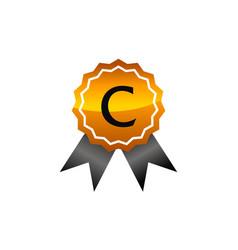 Logo quality letter c vector