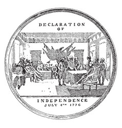 Medal commemorating the declaration vector