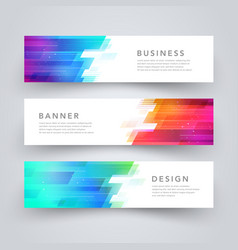 Modern geometric tech design banner template vector