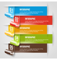 Modern Infographic and Options Banner Template vector