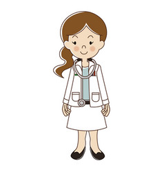 Occupations doctor vector