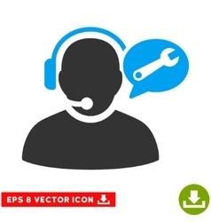 Operator Service Message Eps Icon vector