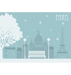 Paris in the winter vector image