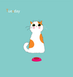 Playful kitty days vector