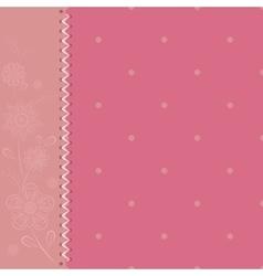 Polka dot pink vector