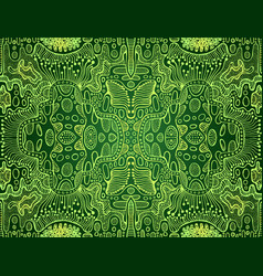 psychedelic bright trippy colorful fractal mandala vector image