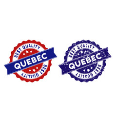 Quebec province best quality stamp with grungy vector