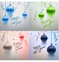 realistic set christmas toy vector image