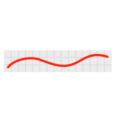 red linear graph chart icon flat style vector image