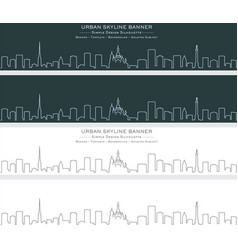 Saint petersburg single line skyline banner vector