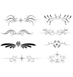 Set of black delimiters - black decorative vector