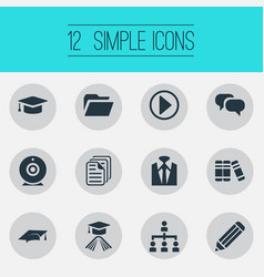 Set of simple conference icons vector