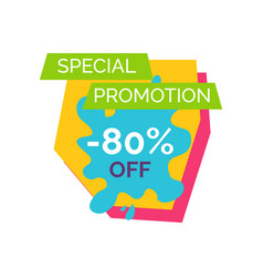 special promotion -80 label vector image