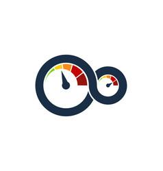 speedometer automotive logo icon design vector image