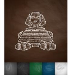 Sphinx icon vector