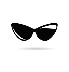 Sunglasses icon black vector