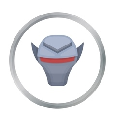 Superhero s helmet icon in cartoon style isolated vector image