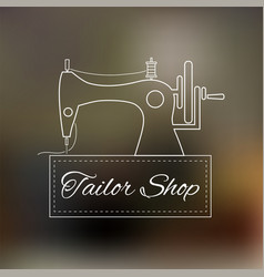 tailoring logo vector image