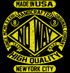 Tee vintage slogan man t shirt graphic design vector
