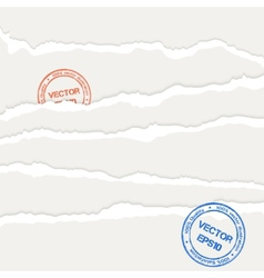 Torn papers sheets vector