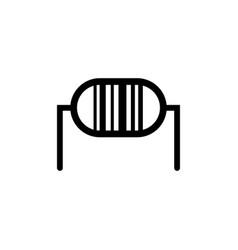 Transistor flat icon vector
