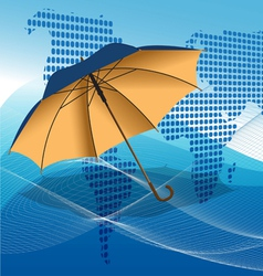 umbrella modern background vector image