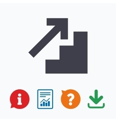 Upstairs icon Up arrow sign vector image