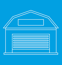 Warehouse building icon outline style vector