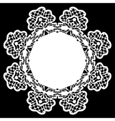 White lace doily vector