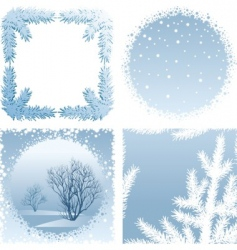 winter frames vector image