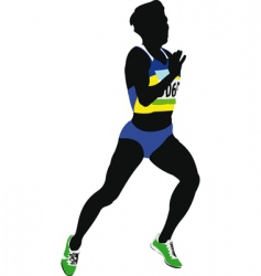 Woman sprinter vector
