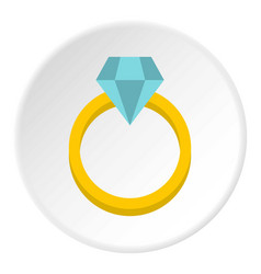 Womens wedding ring icon circle vector