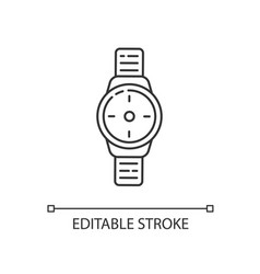 Wrist watch linear icon vector