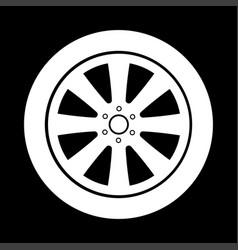 car wheel it is icon vector image vector image