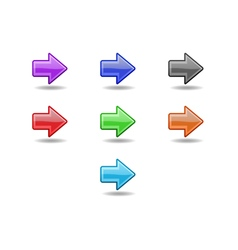 Colored straight arrows set vector image vector image