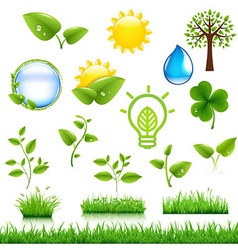 Ecology Symbols Set vector image vector image