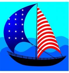 usa boat vector image vector image