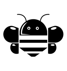 bee icon simple style vector image