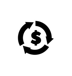 currency exchange flat icon vector image