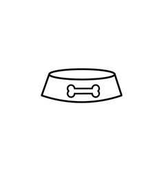 dogs plate linear icon vector image vector image