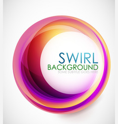 Glamorous swirl background vector