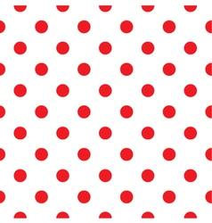 Red polka dot seamless pattern design vector image
