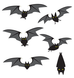 set of red black flying and movement vector image vector image