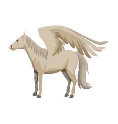 winged horse pegasus or flying mustang mascot vector image