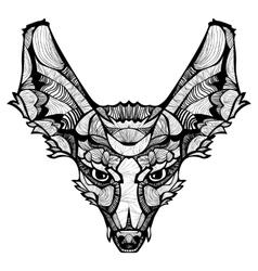 Zentangle happy Fox vector image