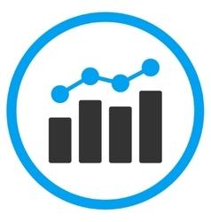Analytics Flat Icon vector image vector image