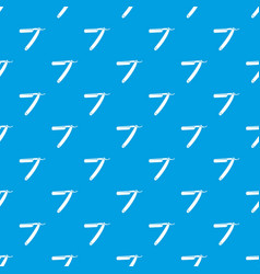 Razor blade pattern seamless blue vector