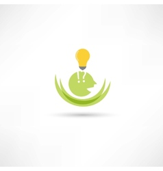 Somebody with lamp vector image vector image